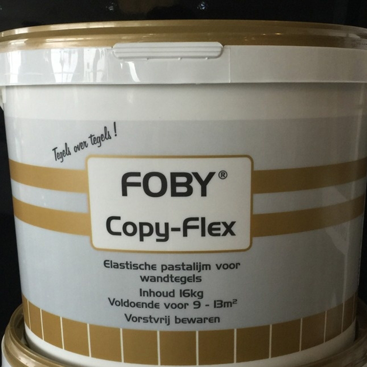 Tegellijm pastalijm fobi copy flex 16 kg tegels laminaat - Tegellijm keuken ...