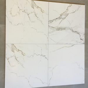 Carrara wit marmerlook vloertegels 60x60