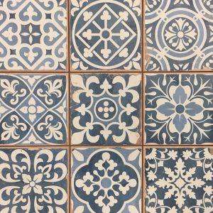 33x33 vloertegels Portugese tegel blauw mix