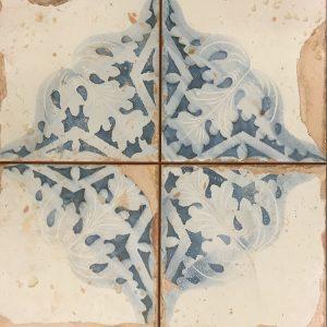 30x30 vloertegels portugese-tegel blauw/wit getrommeld