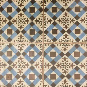 45x45 vloertegels portugese tegel blauw creme