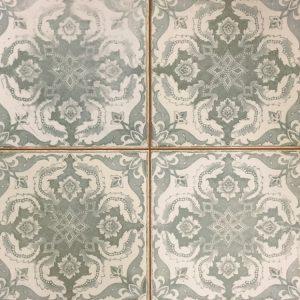 45x45 vloertegels portugese tegel groen/grijs