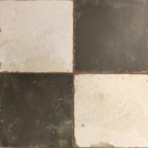 45x45 vloertegels portugese tegel zwart creme
