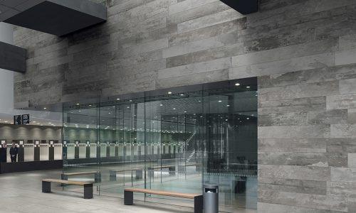 betonlook in bedrijfsruimte