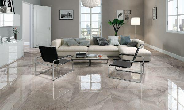 natuursteenlook tegels woonkamer
