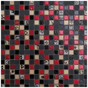 Mozaïek Zwart Rood