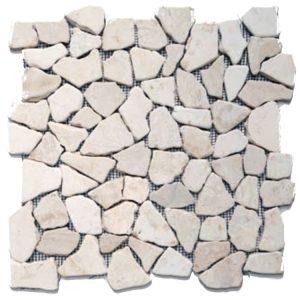 Steen Mozaïek Brick Wit