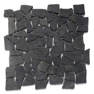 Steen Mozaïek Brick Zwart