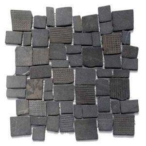 Steen Mozaïek Vierkant Zwart