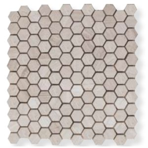 Design Mozaiek Hexagon Grijs