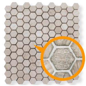 Design Mozaiek Hexagon Relief