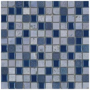 Mozaïek Zilver Blauw