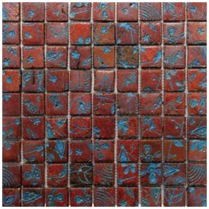 Design Mozaiek Rood Blauw