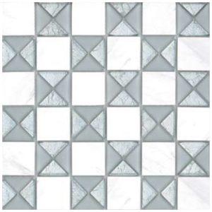 Design Mozaiek Zilver Wit