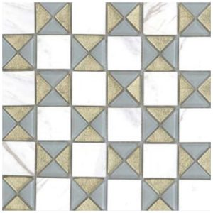 Design Mozaiek Goud Wit