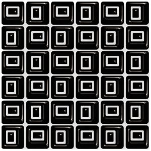 Design Mozaiek Zwart Blok