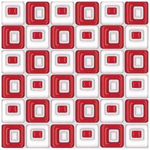 Design Mozaiek Rood Blok