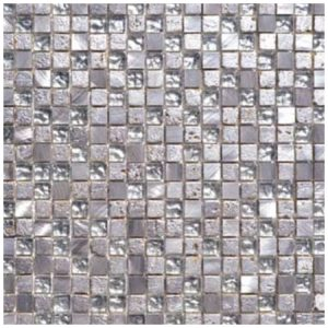 Mozaïek Zilver Kristal