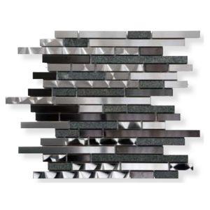 Metaal Mozaiek Strook Zwart