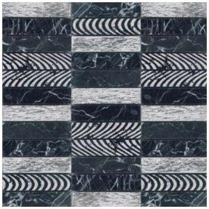 Design Mozaïek Leisteen Zilver