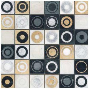 Design Mozaïek Goud Cirkel