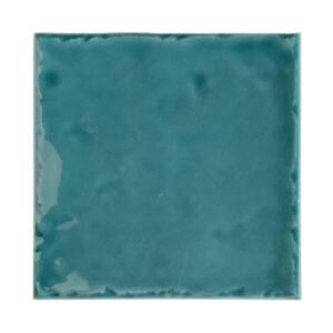 Handvorm Tegel 15x15 Blauw Groen Glans