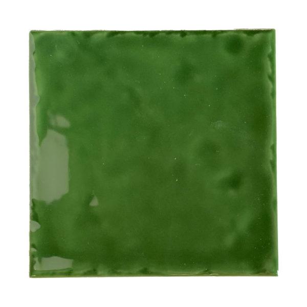 Handvorm Tegel 15x15 Groen Glans