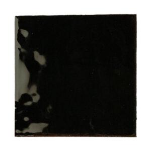 Handvorm Tegel 15x15 Zwart Glans