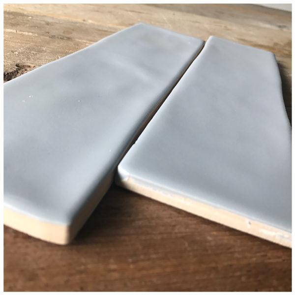 Handvorm tegel 7,5x30 Blauw Grijs Mat
