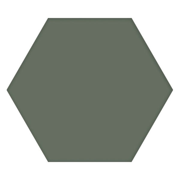 Hexagon 25x22x1 Donkergroen Basic Moss