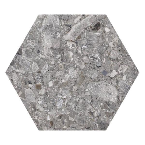 Hexagon 25x22x1 Graniet look Steengrijs Iseo Natural