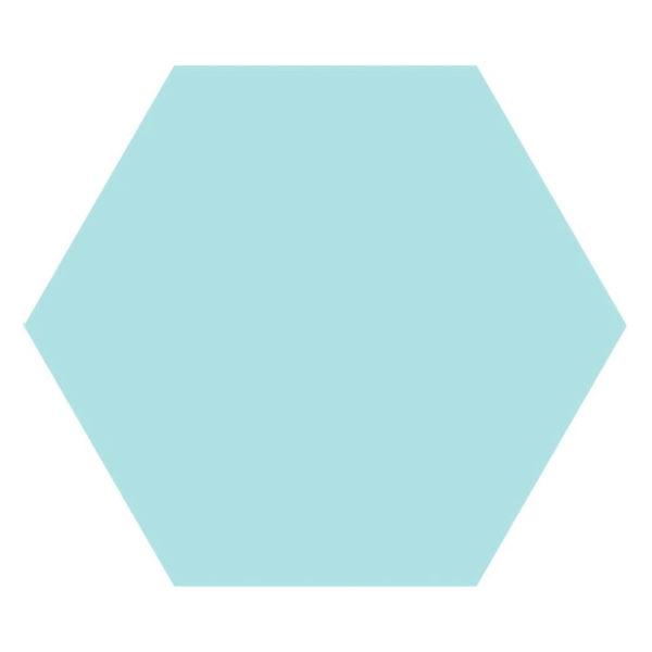 Hexagon 25x22x1 Lichtblauw Basic Aqua
