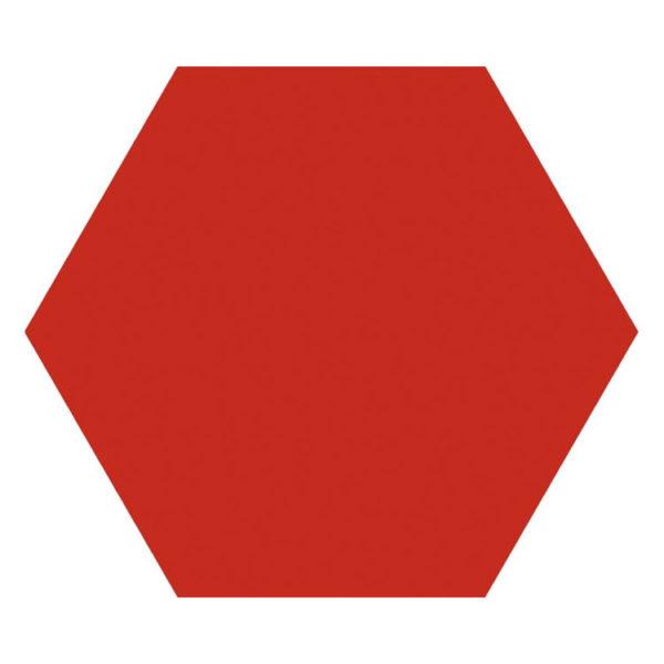 Hexagon 25x22x1 Rood Basic Rojo