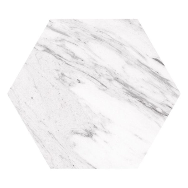 Hexagon 25x22x1 Wit Carrara