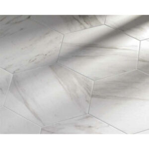 Hexagon 25x22x1 Wit Carrara