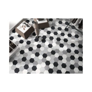 Hexagon 25x22x1 Zwart Basic Black