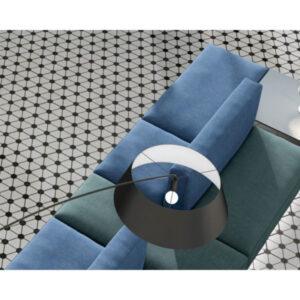 Zwart Wit Tegels.Hexagon Tegel 25x22x1 Wit Zwart Atom White