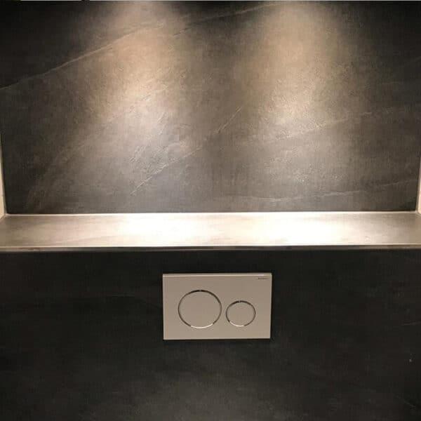Leisteenlook Tegel 60x120 Antraciet Darkstone Sfeer