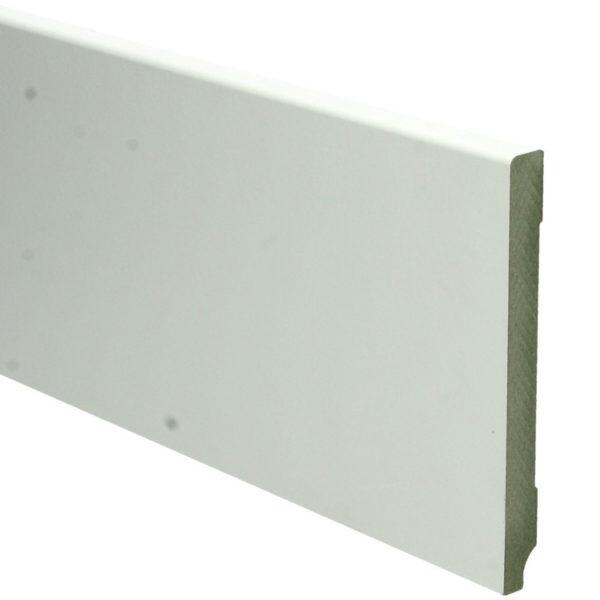 MDF Moderne Plint 120x12 Wit Voorgelakt Ral 9010