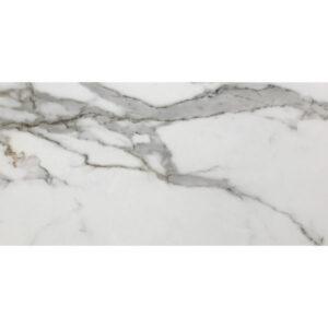 Marmerlook Tegel 120x30 Hoogglans Calacatta