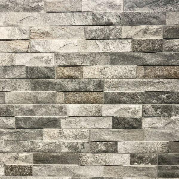 Steenstrips Keramisch 7.5x38.5 Decor Grijs Rock Grey