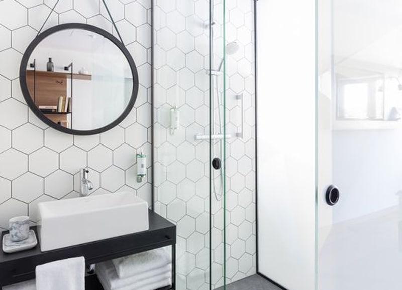 Hexagon Tegels in Badkamer