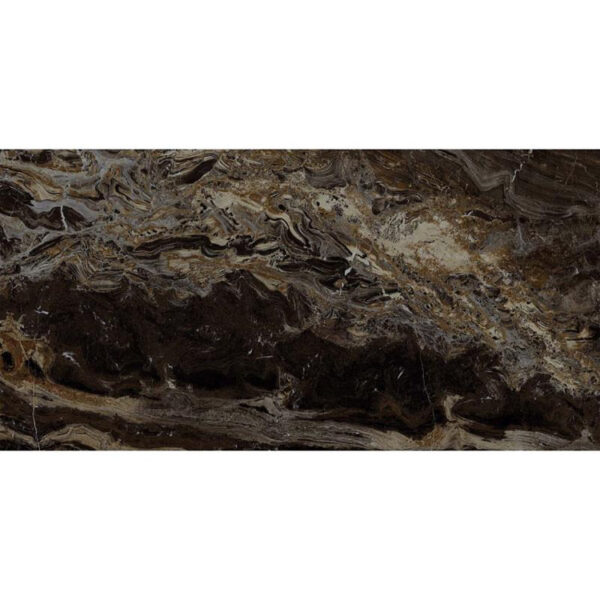 Marmerlook Tegel 60x120 Bruin Hoogglans Frappuccino