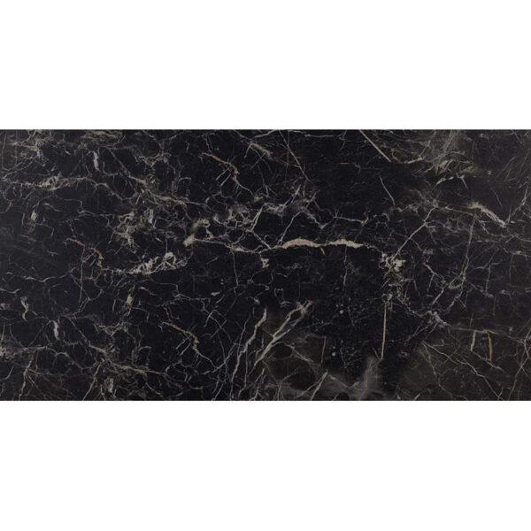 Marmerlook Tegel 60x120 Zwart Mat Saint Laurent