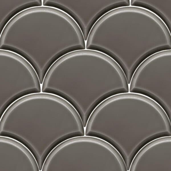 Schubben Tegels 13x15 - Escama Antraciet Hoogglans