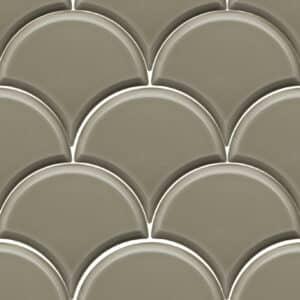 Schubben Tegels 13x15 - Escama Olijf Groen Hoogglans
