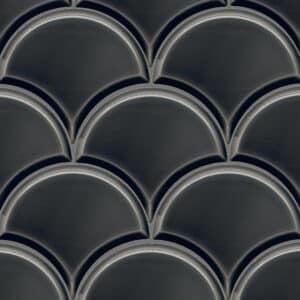 Schubben Tegels 13x15 - Escama Zwart Hoogglans