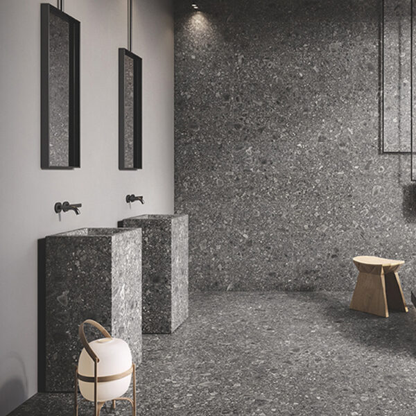 Terrazzo Tegels Granito Lombardo Antraciet Zwart