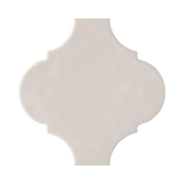Arabesque Tegels 15x15 - Tonalite Handvorm Satijn Gebroken Wit