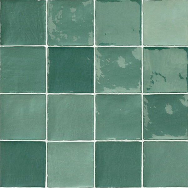 Handvorm Tegels 10x10 - Marokkaanse Zellige Natucer Stow Mix Groen